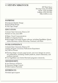 Simple Resume Examples For College Students Resume Corner