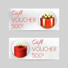 Christmas Gift Coupon Gift Voucher Template With Christmas Gifts Stock Vector