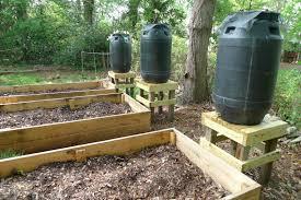 garden irrigation system. Garden Irrigation Watering System Made By Rain Barrels E
