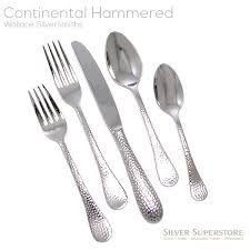wallace silversmiths continental bead stainless steel flatware 5pc set