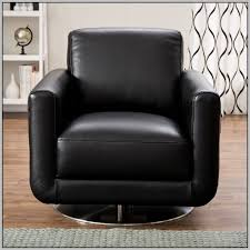 natuzzi leather swivel club chair