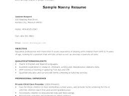 Nanny Resume Delectable Example Of Nanny Resume Cover Nanny Resume Description Fathunter