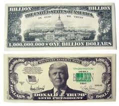 Donald Billion Trick Dollars Of Dollar Play Trump Fake Money Ebay 100 Bill Bills Joke
