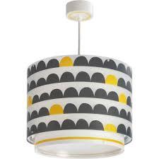 Kinderkamer Hanglamp Wonderland Geel Grijs
