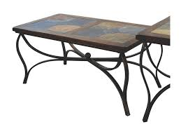 Slate top coffee table Round Sunny Designs Santa Feslate Top Coffee Table Sadlers Home Furnishings Sunny Designs Santa Fe Traditional Natural Slate Top Coffee Table