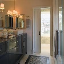 bathroom pocket doors. Black Bathroom Vanity With White Vessel Sinks Pocket Doors G
