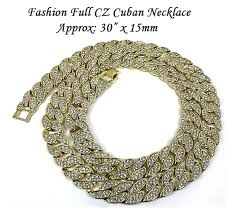 iced out full cz cuban chain