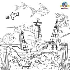 Ocean Life Coloring Book Coloring Pages Download