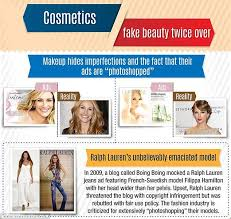 banned airbrushed to perfection cosmetic panies are notorious for using photo to alter advertising caigns