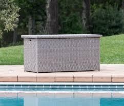 patio furniture for small spaces sirio grey patio storage box