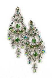 04 03 360 rhinestone chandelier earrings peridot