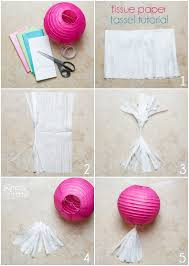 tissue paper tassel tutorial smarty had a party