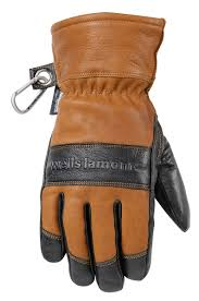 hydrahyde insulated black grain goatskin gloves 7664 image
