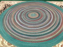 271 7 5 round wool braided rug from l l bean like new