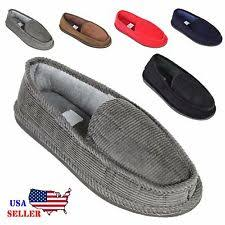 mens bedroom shoes. new mens house slippers corduroy moccasin slip-on men shoes male size 5-14 bedroom j