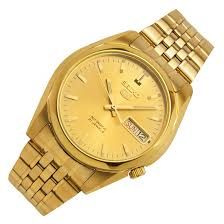 seiko 5 gold plated mens casual watch snk366k1 snk366k snk366