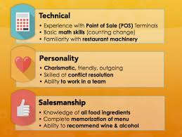 skills and ability resumes food service waitress waiter resume samples tips