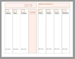 Horizontal Weekly Planner Template 2018 Free Printable Planner Pages The Make Your Own Zone