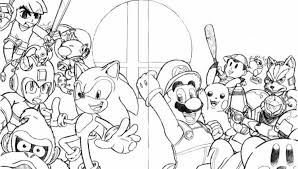 Small Picture Samus Super Smash Bros Coloring Pages Coloring Home for Super