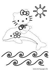 Dot To Dot Coloring Pages The Hello Kitty Dot To Dot Coloring ...