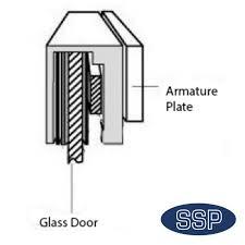 glass door maglock ar u bracket