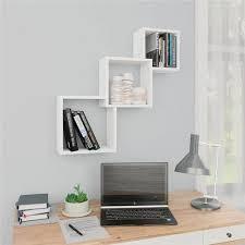 cube wall shelves white 84 5x15x27 cm