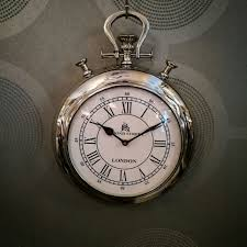 pocket watch wall clock intended for compelling cheungs black roman