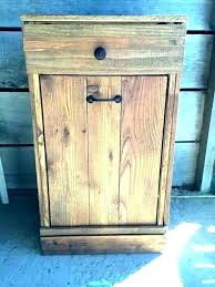 tilting trash cabinet wood kitchen trash containers tilt out trash can wooden trash can kitchen garbage