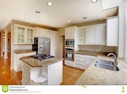 American Kitchen Classic American Kitchen Interior With White Cabinets And Built In