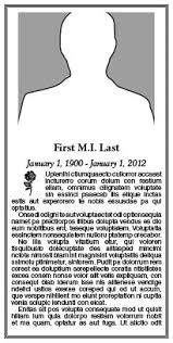 Newspaper Obituary Template Placeanad Latimes Com Obituaries
