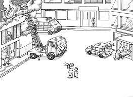 Dessin De Coloriage Camion Pompier Imprimer Cp05447
