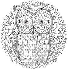Small Picture Free Owl Nature Mandala Coloring Page inkleur Pinterest