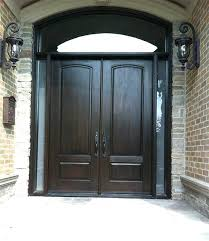 exterior double entry doors wood with glass