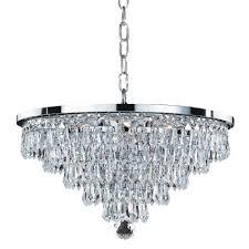 glow lighting chandeliers. Glow Lighting Vista 6-Light Faceted Crystal Teardrop And Chrome Frame Chandelier Chandeliers