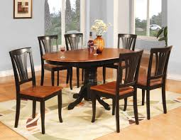 oval shape pedestal dining table for 6 with brown painted also teak wood dining chairs without arms