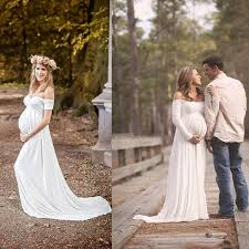 2016 maternity wedding gowns empire white soft chiffon off the