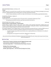 Sample Resume For Substitute Teacher
