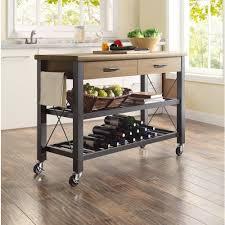 kitchen island cart industrial. Industrial Small Kitchen Island Cart With Two Drawers And Wheels O