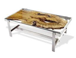 rotsen furniture single slab stainless steel. book matched curly myrtle slabs under glass top coffee table 32 rotsen furniture single slab stainless steel