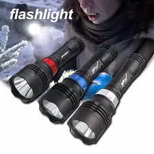 50M Dưới Nước 200000LM LED Scuba Lặn Đèn Pin Đi Bộ Đường Dài Đèn Pin Đèn  Đèn Flash