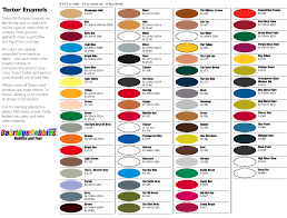 Enamel Paint Colour Chart Www Bedowntowndaytona Com