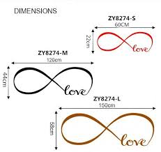 Fast Shipping Personalized Infinity Symbol Bedroom Wallpaper Decals Gorgeous Infinity Love Quotes