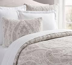 gray paisley bedding.  Bedding Billie Paisley Quilt KingCal King Gray Inside Bedding C
