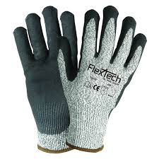 flextech y9216 with sandy nitrile palm palm coated work gloves