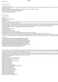 45 Professional Accountant Resume Samples Vinodomia Objectives For
