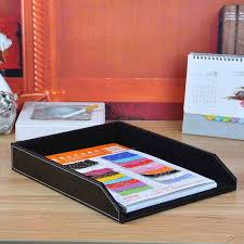 desk office file document paper. A4 Leather Wooden Office Desk File Document Tray Magazine Paper Box Table Organizer Documents Accessories