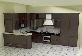 Dark Wood L Shaped Kitchen Designs Black And White