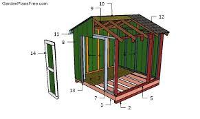 8x8 garden shed plans free pdf