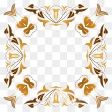 fl design visual arts picture frames flower bunga gold vector png