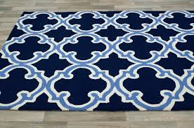 image of top navy blue area rug 8 10